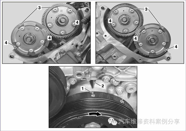 奔驰272发动机大修后报,沿推迟方向的右侧进气凸轮轴调整p0016故障,是