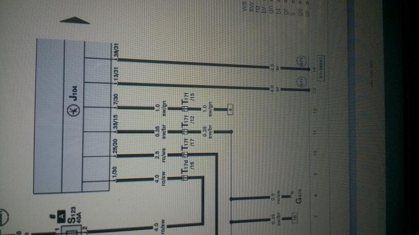 a6鼓风机电路图中小方框数字13,怎样查找另一头