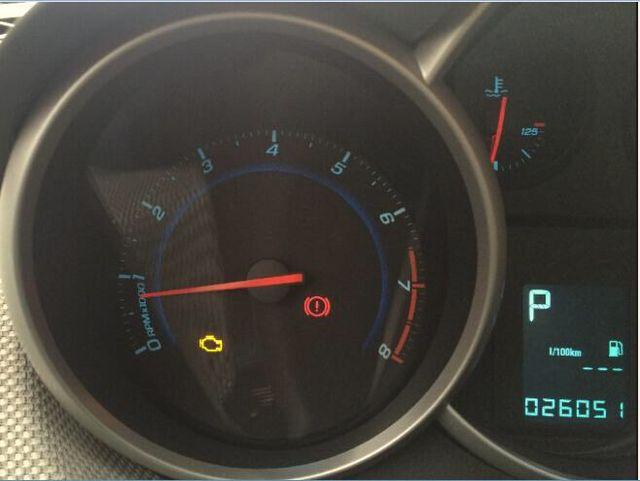 科鲁兹仪表盘上出现一个发动机故障灯怎么办高清图片