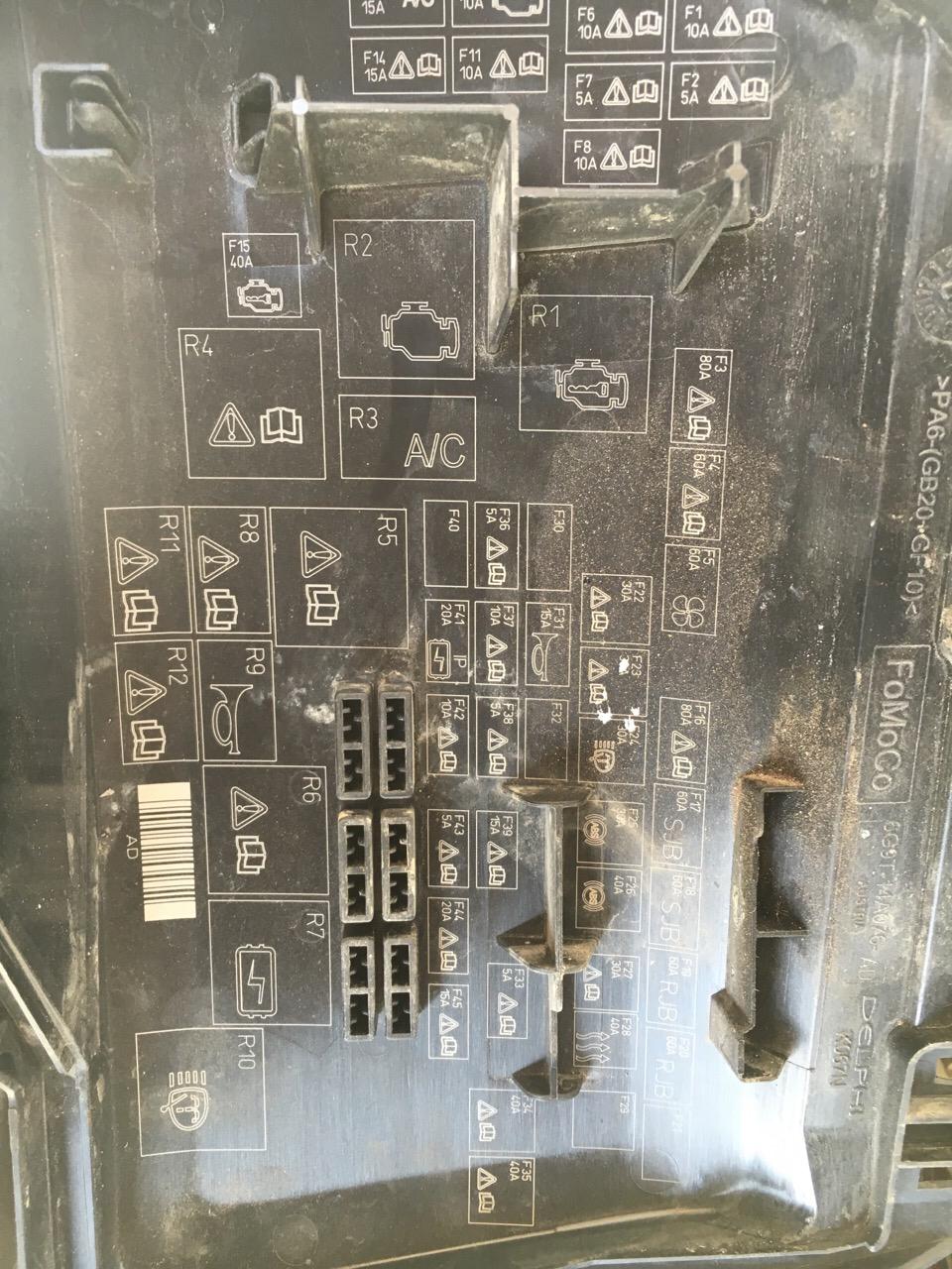 蒙迪欧.致胜08款.发动机舱里面的保险丝盒里面的继电器都是什么.