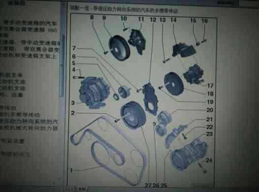 奥迪s5发电机皮带绕法