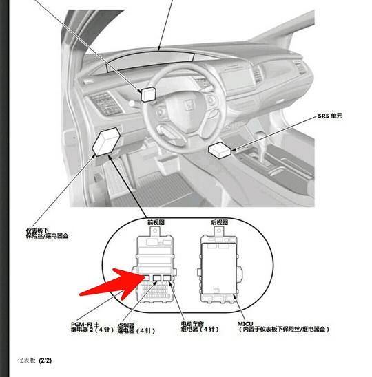 本田杰德油泵继电器或油泵保险丝在哪里最好是彩图标识谢谢!
