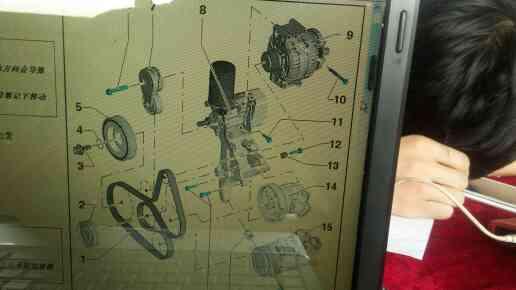 奥迪q5 2.0t发电机皮带绕法