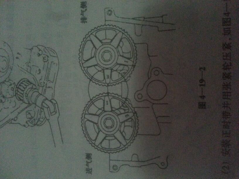 海马福美来479qvvt发动机正时皮带记号怎么对